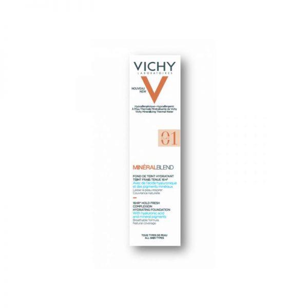 Vichy Minéralblend Fond de Teint Hidratante Fixação Fresca 16H – Tom Clay 01 30ml