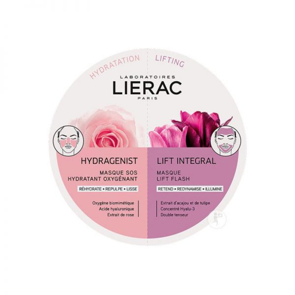 Lierac Hydragenist Máscara Sos Hidratante Oxigenante 6 Ml + Lift Integral Máscara Tensora Flash 6 Ml