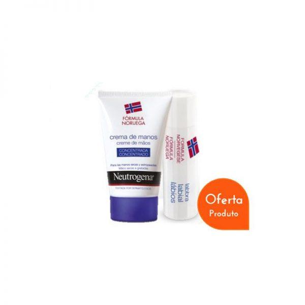 Neutrogena Pack Creme de Mãos Concentrado c/ Perfume c/ Oferta Stick Labial 50 ml + 3 g