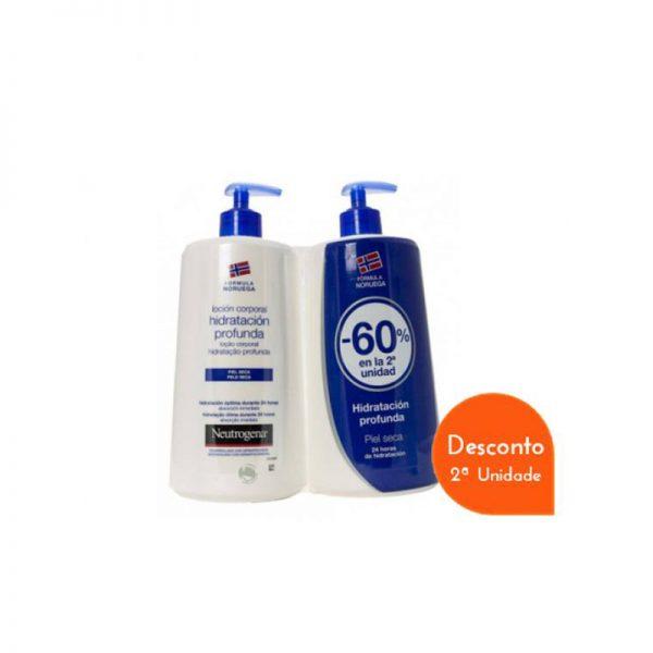 Neutrogena Loção Corporal Hidratação Profunda Pele Seca c/ Desconto 60% na 2ª Embalagem 2 x 750 ml